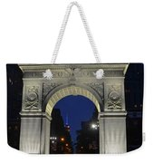 The Empire State Building Through The Washington Square Arch Weekender Tote Bag