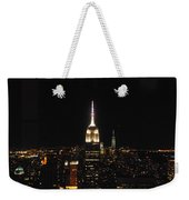 The Empire States At Night Weekender Tote Bag