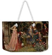 The Enchanted Garden Weekender Tote Bag by John William Waterhouse