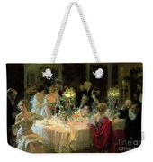 The End Of Dinner Weekender Tote Bag