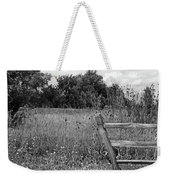 The End Of The Fence Bw Weekender Tote Bag