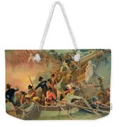 The English Navy Conquering A French Ship Near The Cape Camaro Weekender Tote Bag