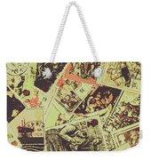 The English Postage Scene Weekender Tote Bag