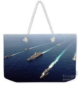 The Enterprise Carrier Strike Group Weekender Tote Bag by Stocktrek Images