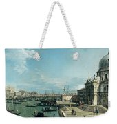 The Entrance To The Grand Canal And The Church Of Santa Maria Della Salute Weekender Tote Bag by Canaletto