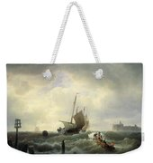 The Entrance To The Harbour At Hellevoetsluys Weekender Tote Bag