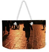 The Entrance To The Western Wall At Night Weekender Tote Bag