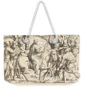 The Entry Into Jerusalem Weekender Tote Bag