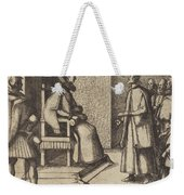 The Envoy Of Tuscany Thanking The Queen [verso] Weekender Tote Bag
