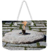The Eternal Flame At President John F. Kennedy's Grave Weekender Tote Bag