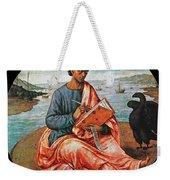 The Evangelist John At Patmos Weekender Tote Bag