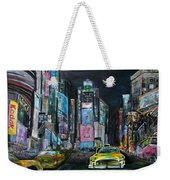 The Evening Of Time Square Weekender Tote Bag