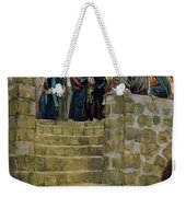 The Evil Counsel Of Caiaphas Weekender Tote Bag by Tissot