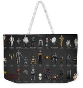 The Evolution Of Robots In Movies Weekender Tote Bag