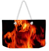 The Face Of Fire Weekender Tote Bag