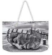The Face Of The Bay Mono Weekender Tote Bag