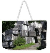 The Faces In The Stone Blocks Weekender Tote Bag