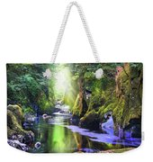 The Fairy Glen Gorge River Conwy Weekender Tote Bag