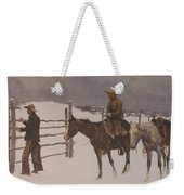 The Fall Of The Cowboy Weekender Tote Bag by Frederic Remington