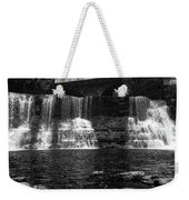 The Falls In Black And White Weekender Tote Bag