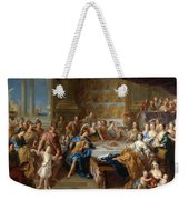 The Feast Of Dido And Aeneas. An Allegorical Portrait Of The Family Of The Duc And Duchesse Du Maine Weekender Tote Bag
