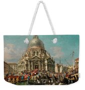 The Feast Of The Madonna Della Salute In Venice Weekender Tote Bag