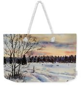 The Fields After Snow Weekender Tote Bag