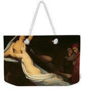 The Figures Of Francesca Da Rimini And Paolo Da Verrucchio Appear To Dante And Virgil Weekender Tote Bag