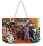 The Finding Of The Savior In The Temple Weekender Tote Bag by William Holman Hunt