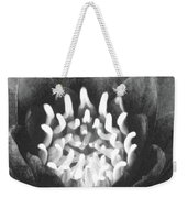 The Fire Inside - Water Lily 02 - Bw Weekender Tote Bag