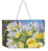 The First Flowers After Winter Weekender Tote Bag