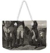The First Meeting Of George Washington And Alexander Hamilton Weekender Tote Bag