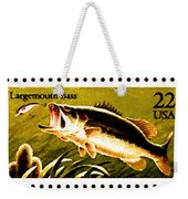 The Fish Stamps Weekender Tote Bag by Lanjee Chee