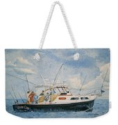 The Fishing Charter - Cape Cod Bay Weekender Tote Bag