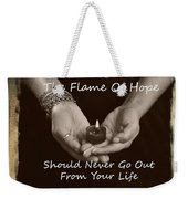 The Flame Of Hope Weekender Tote Bag