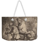 The Flight Into Egypt: Small Weekender Tote Bag