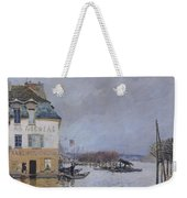 The Flood At Port Marly Weekender Tote Bag by Alfred Sisley