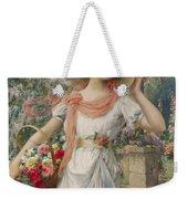 The Flower Girl Weekender Tote Bag by Emile Vernon