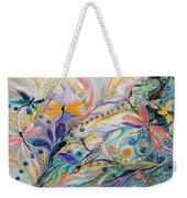 The Flowers And Dragonflies Weekender Tote Bag