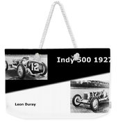The Flying Frenchman Indy 500 1927 Leon Duray Weekender Tote Bag