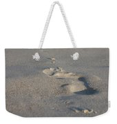 The Footprint Of Invisible Man On The Sand Weekender Tote Bag