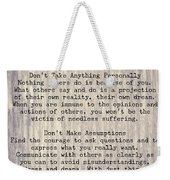 The Four Agreements 6 Weekender Tote Bag