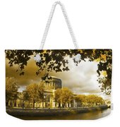 The Four Courts In Reconstruction Sepia Weekender Tote Bag