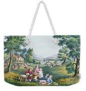 The Four Seasons Of Life Childhood Weekender Tote Bag
