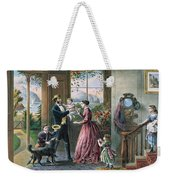 The Four Seasons Of Life  Middle Age Weekender Tote Bag by Currier and Ives