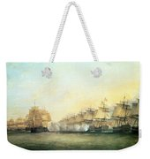 The Fourth Action Off Trincomalee Between The English And The French Weekender Tote Bag