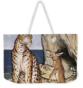 The Fox And The Leopard Weekender Tote Bag