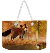 The Fox And The Turtle Weekender Tote Bag