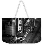 The Fox Thearter Bw Atlanta Night Art Weekender Tote Bag