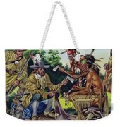 The French In Canada, Trading For Fur With The Native People Weekender Tote Bag